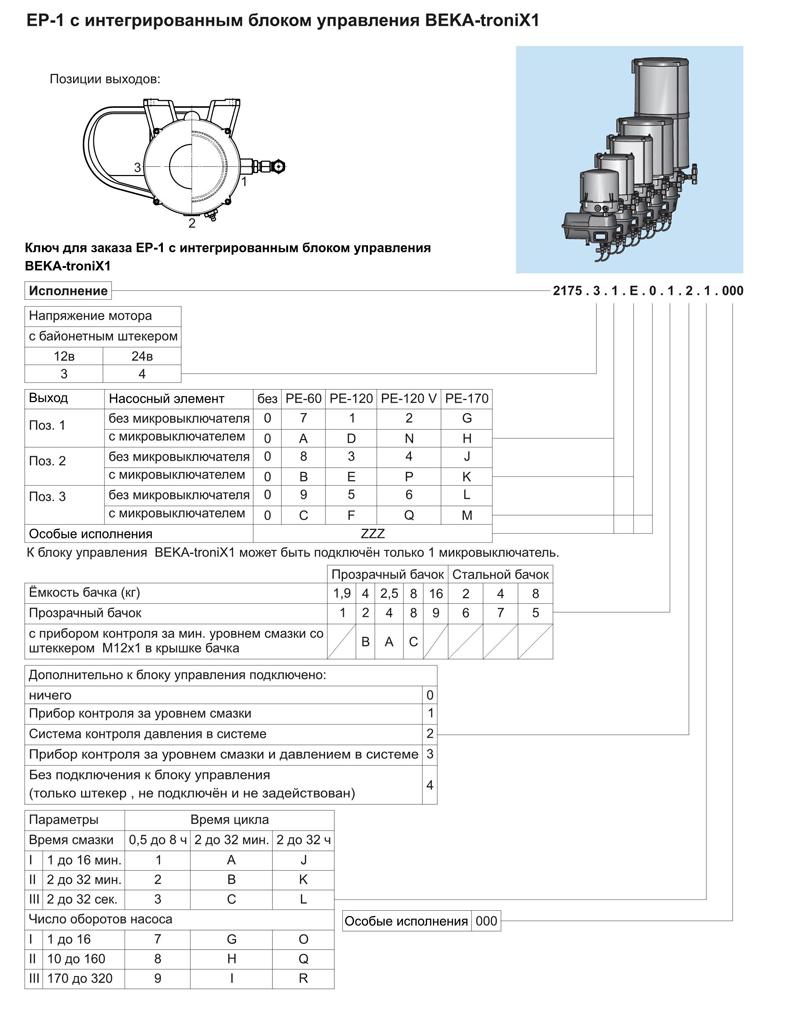 насос beka-max ep-1 с интегрированным блоком управления beka-tronix1
