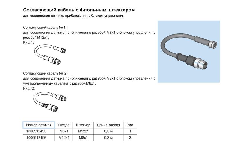 согласующий кабель со штеккером